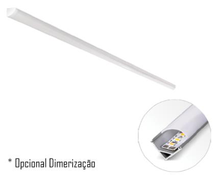 Luxline 1000 X 16 / 14,4W/m Sobrepor - 45º