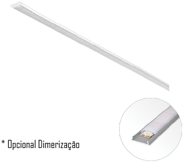Luxline 1000 X 18 / 14,4W/m Sobrepor - Capa Plana
